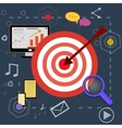 strategy planning icons with bright pictures vector image