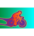 stylized drawing of three cyclists on the black vector image vector image