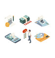 tax payment isometric legal service online vector image