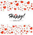 template design for horizontal postcard valentine vector image vector image