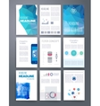 Templates flyer brochure cover for print vector image vector image