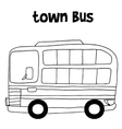 Town bus art vector image vector image