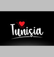 tunisia country text typography logo icon design vector image vector image