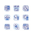 virtual communication rgb color icons set vector image