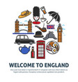 welcome to england promo banner with national vector image vector image