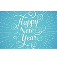 White lettering Happy New Year for greeting card vector image