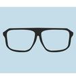 Nerd glasses on blue background vector image