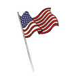 united states of american flag waving emblem vector image
