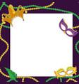 mardi gras carnival design vector image