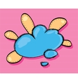 cheerful cloud for text vector image