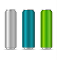 Colorful cans of drinks template vector image