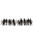 a group of people vector image vector image