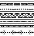Aztec seamless pattern tribal black and white bac vector image vector image