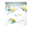 banner and balloons vector image vector image