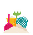 beach toys flat vector image vector image