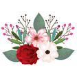 beautiful rosebush decoration icon vector image