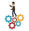 business people with training icon vector image vector image