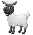 cartoon funny sheep posing vector image vector image