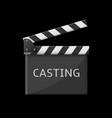 casting clapper board vector image