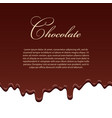 chocolate seamless pattern template lorem ipsum vector image vector image