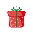 Christmas Gift icon in flat style vector image vector image