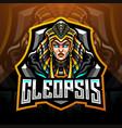cleopsis esport mascot logo design vector image vector image