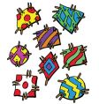 colourful cartoon style patches illust vector image vector image