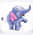 cute baby elephant cartoon character funny vector image vector image