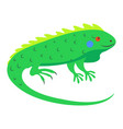 cute iguana cartoon flat sticker or icon vector image vector image