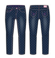 denim pants for a girl vector image vector image