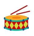 Drums and stiks vector image vector image