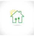 Ecology house vector | Price: 1 Credit (USD $1)