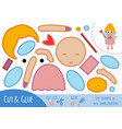 education paper game for children fairy girl vector image vector image