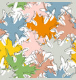 fall maple leaf pattern in bright colors vector image
