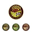 Farm isolated green logo collection Rural vector image vector image