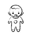 figure baby boy with pacifier and hairstyle vector image vector image
