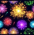 firework boom flame colorful festive seamless vector image