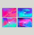 fluid shapes wavy liquid background bright neon vector image