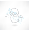 Flying egg grunge icon vector image