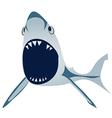 Funny shark vector image vector image