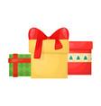 gift box with ribbon christmas present holiday vector image vector image