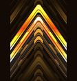 gold black arrow light cyber metallic direction vector image vector image