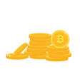 gold coins stack white background image vector image