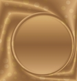 gold metal picture frame at the bottom vector image vector image