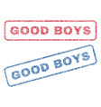 good boys textile stamps vector image vector image