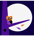 Halloween night Owl template with copy space vector image vector image
