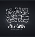 hand drawn jelly candy vector image vector image