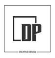 initial letter dp logo template design vector image