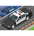 Isometric Police Car in Front View vector image vector image