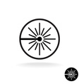 Laser black icon Laser beam flash sparks linear vector image vector image